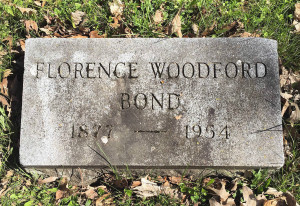 Gravestone of Florence Bond in Oakwood Cemetery; Syracuse