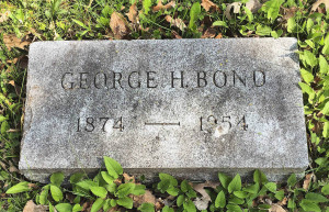 Gravestone of George Bond in Oakwood Cemetery; Syracuse