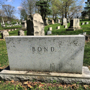 Bond headstone in Oakwood Cemetery in Syracuse
