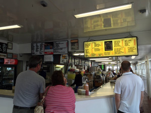 Ordering at Rudy's Drive In in Oswego, NY