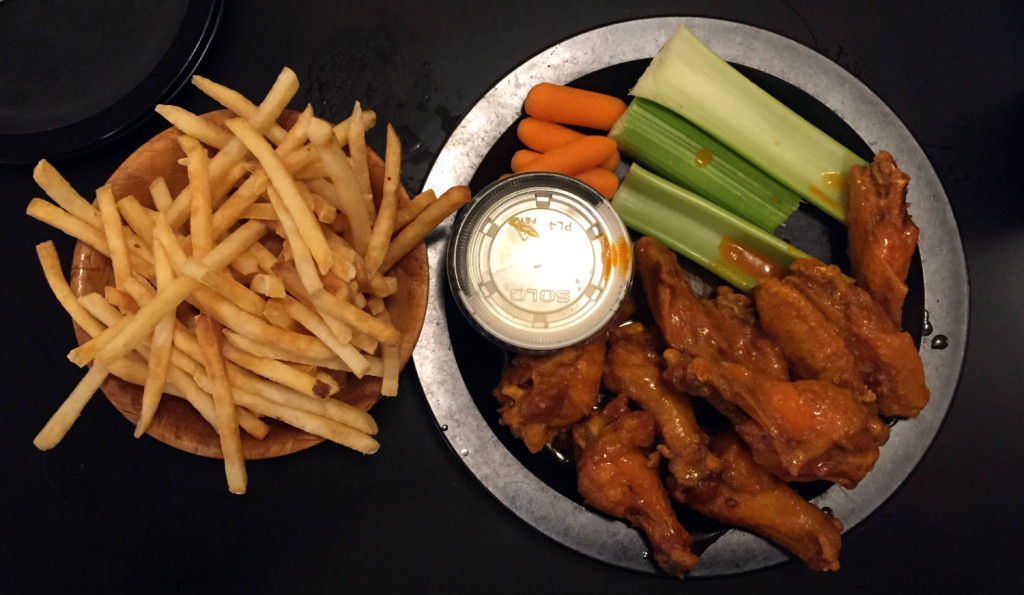 Duff's Famous Buffalo Style Chicken Wings with French Fries