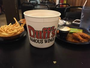 Duff's Famous Wings Bone Bucket