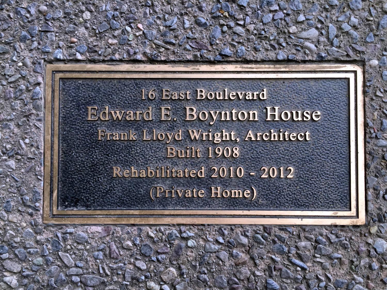 Sidewalk Plaque for Edward E. Boynton House