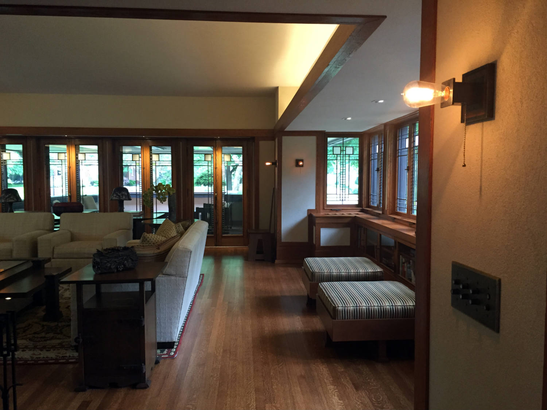 Living Room and Edison Bulb
