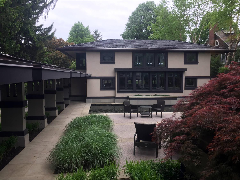 Backyard of the Boynton House in Rochester