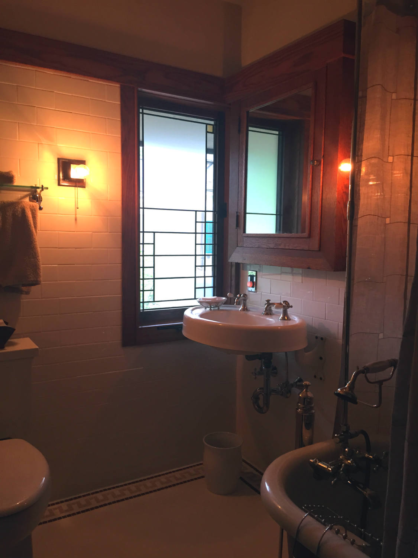 Bathroom in the Boynton Frank Lloyd Wright House