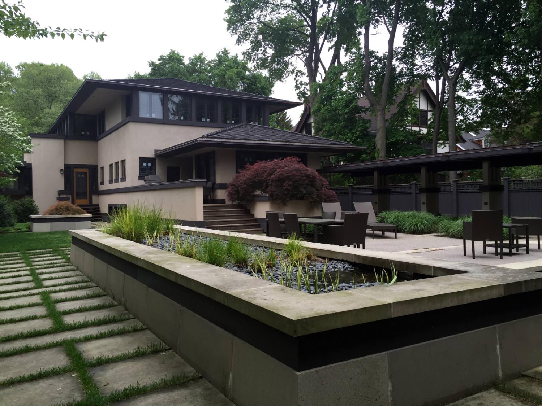Garden and Back Patio at Boynton Home