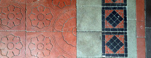 Portico Floor Tiles at the New York State Asylum at Utica in New York