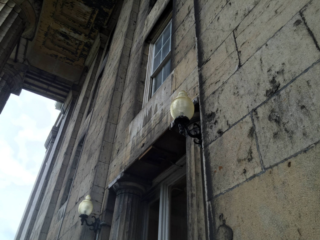 Portico Lamps at the New York State Asylum at Utica in New York