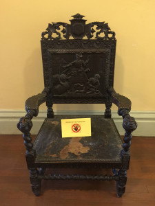 Alcoholism Artwork Chair at the Utica Asylum in NY