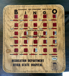 Utica State Hospital Bingo Card