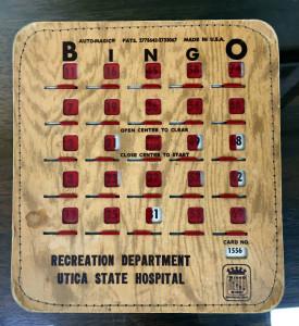 Utica State Hospital Bingo Card