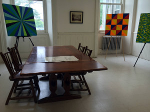 Dining Room with Patient Artwork at the Utica State Hospital in NY