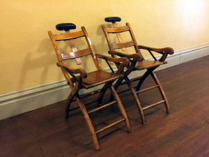 Chairs in the former New York State Asylum at Utica