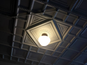 Ceiling and Light Detail in the Utica State Hospital in NY