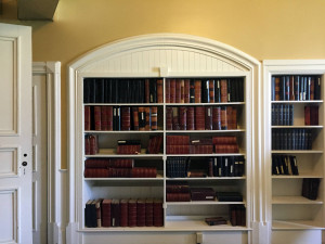 Books in the Library at the Utica State Hospital in NY