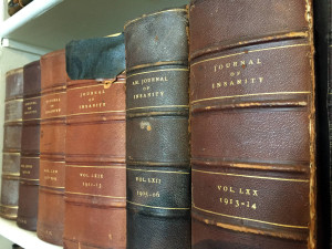 Journal of Insanity Book Collection in the Library at Utica