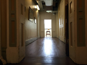 Hallway View of Restraint Chair at the Utica State Hospital in New York