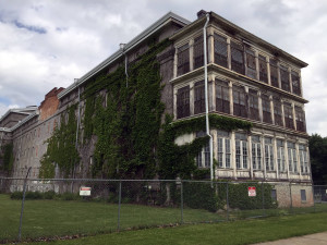 Rear View of Old Main in Utica, New York