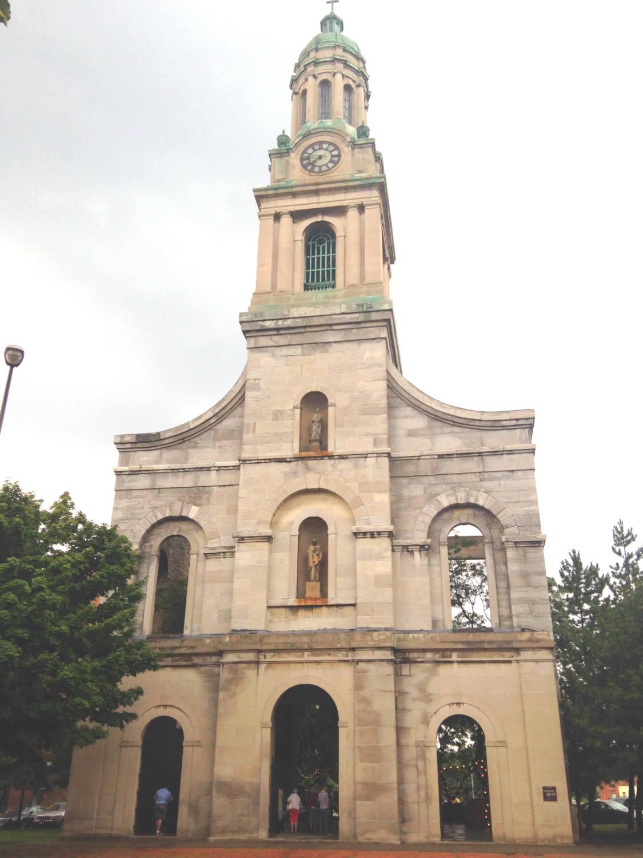 Remaining Facade of St. Joseph's Park in Rochester, New York