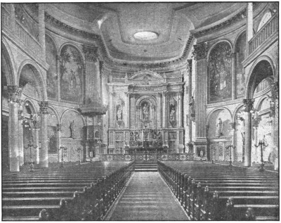Interior of St. Joseph's Church (year unknown). Photo credit to mcnygeneology.com