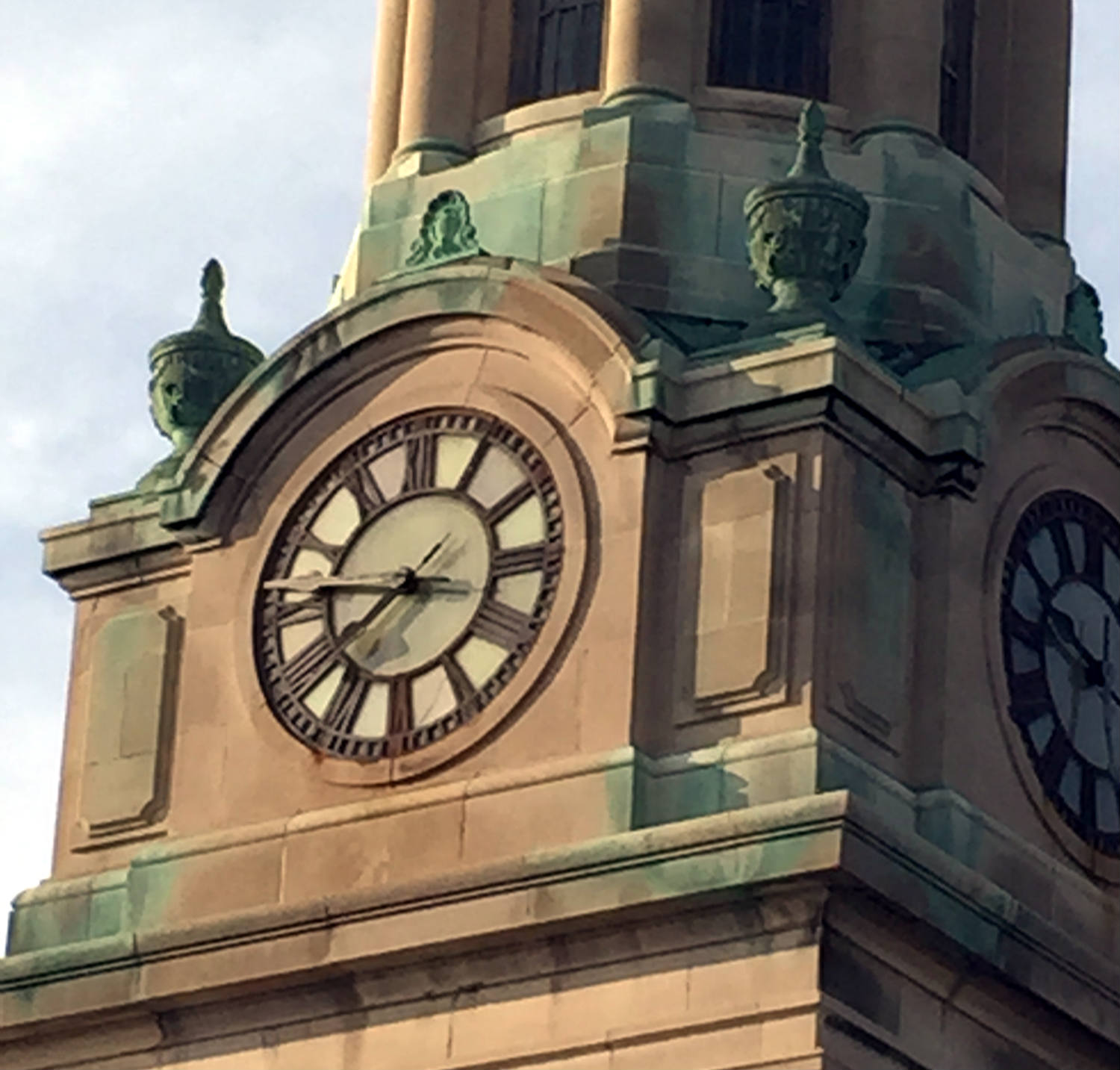 Close Up of St. Joseph's Park Clock in Rochester