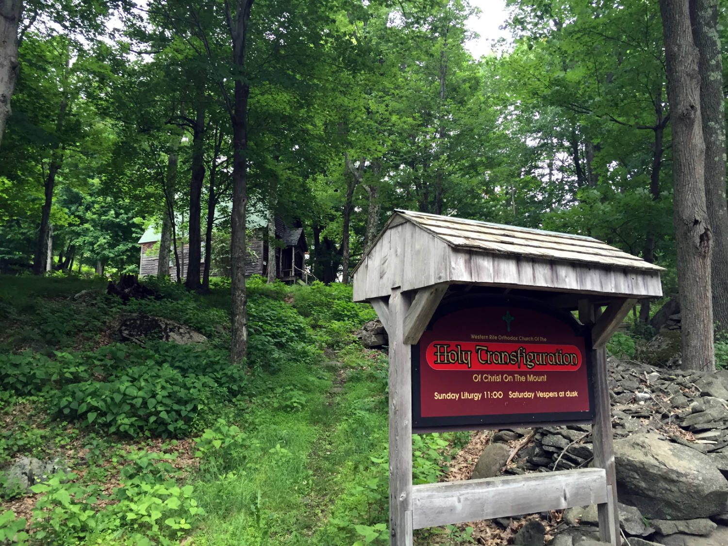 Trail to Holy Transfiguration of Christ On the Mount in Woodstock, New York