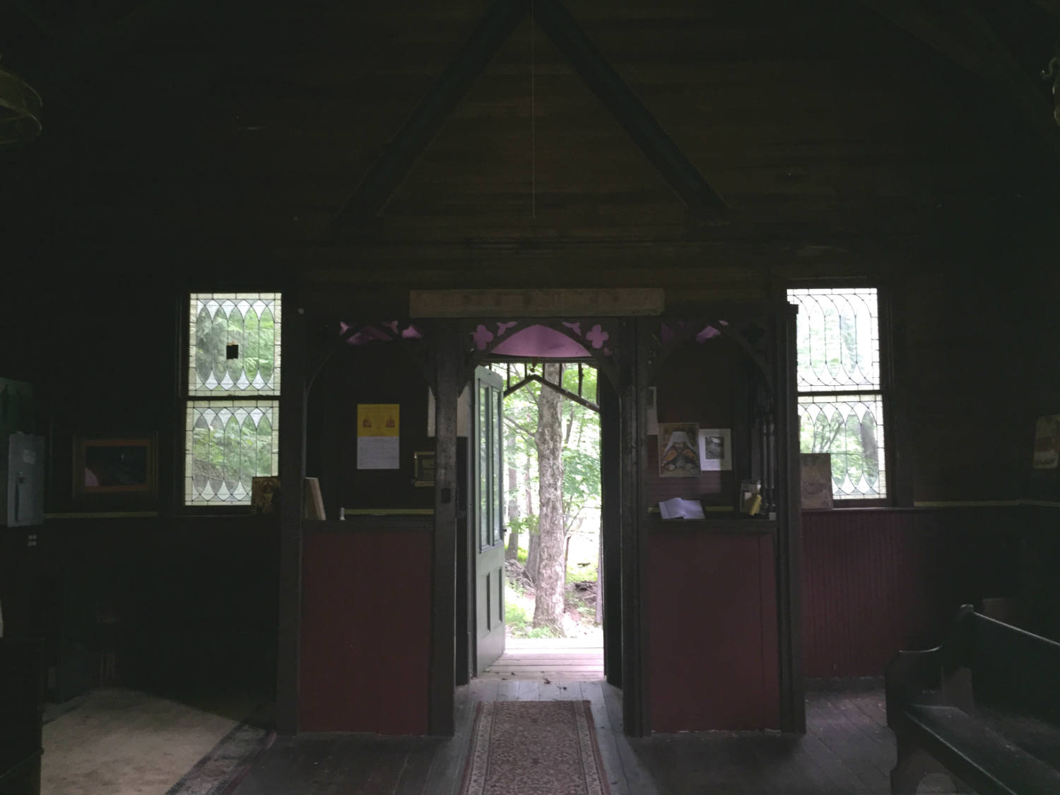 Inside view of doorway to the Holy Transfiguration of Christ On the Mount in Woodstock, New York
