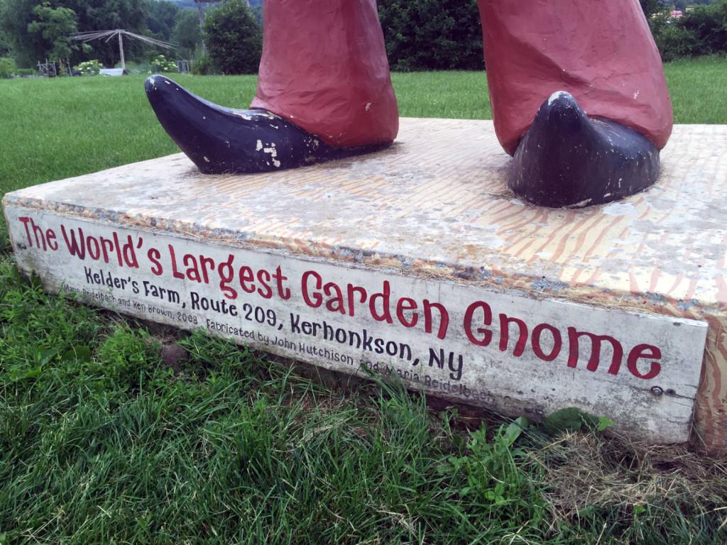 World's Largest Garden Gnome at Kelder's Farm in Kerhonkson, New York