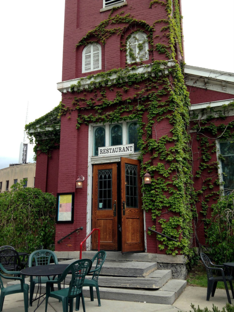 Entrance to the Mission Restaurant in Syracuse, New York