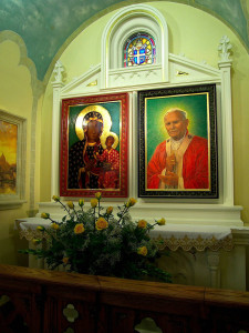 Pope John Paull II Altar with Relic in Rochester, NY