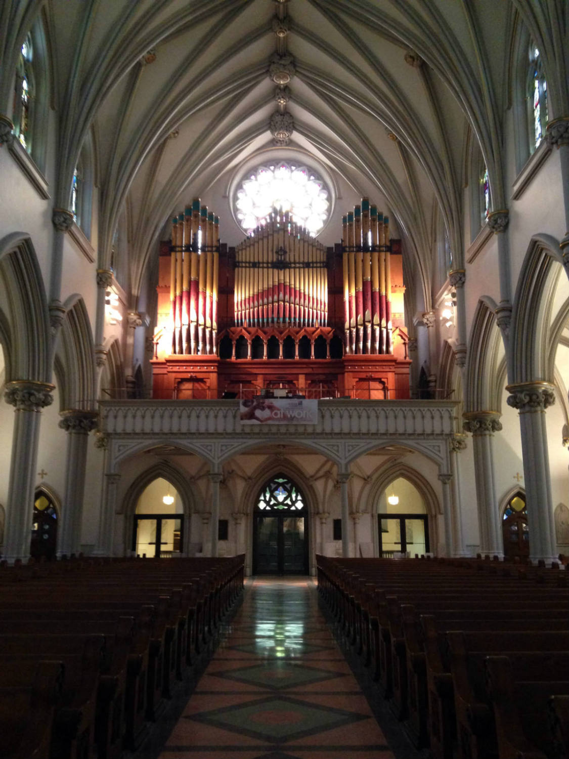 Nave and Rear with Organ in St. Joseph Cathedral
