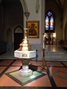 Baptismal Font at St. Joseph Cathedral in Buffalo, New York