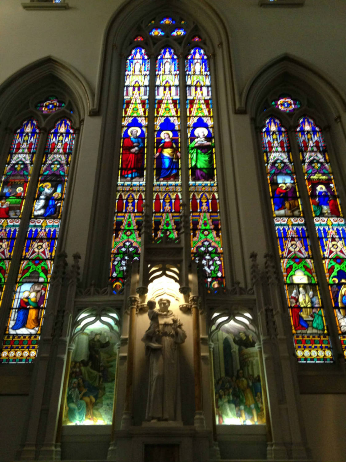 Stained Glass Inside St. Joseph Cathedral in Buffalo, NY