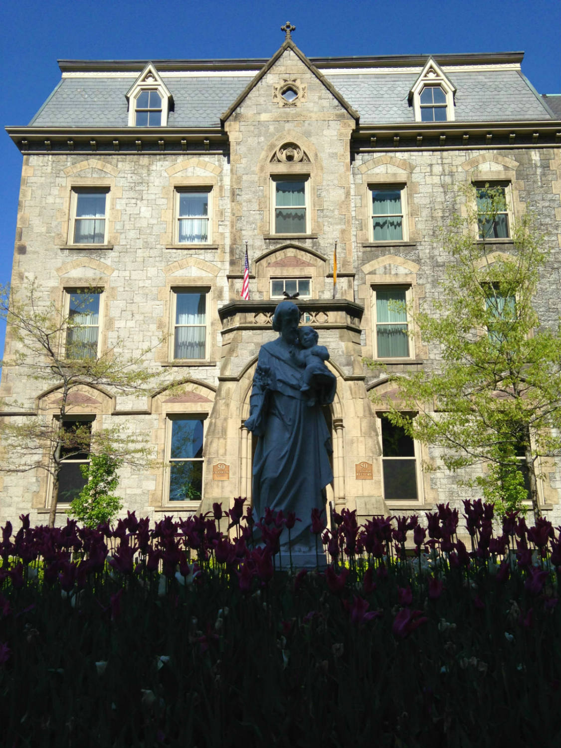 Garden Statue at St. Joseph Cathedral in Buffalo, New York