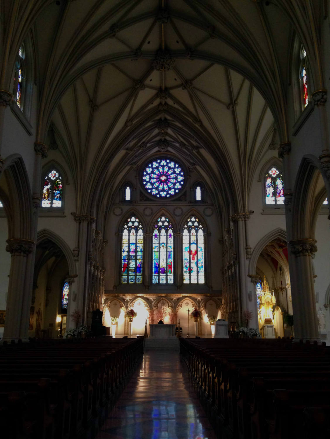 Nave view of the Altar at St. Joseph Cathedral in Buffalo
