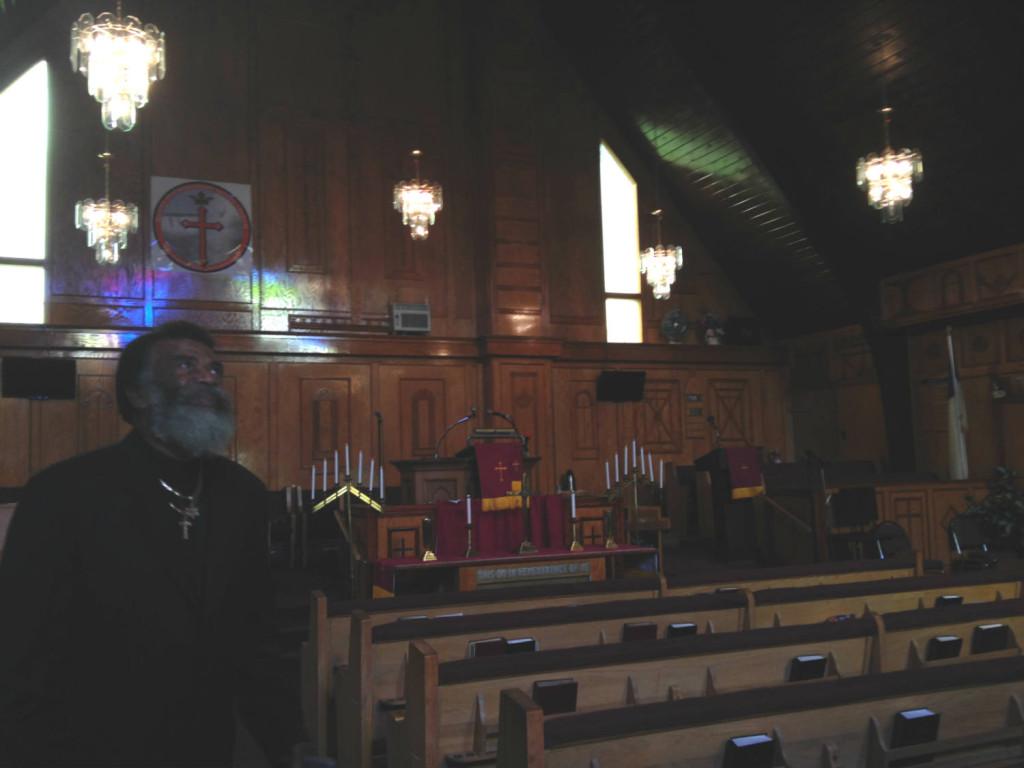 Prophet Isaiah inside the Mt Erie Baptist Church in Niagara Falls, New York