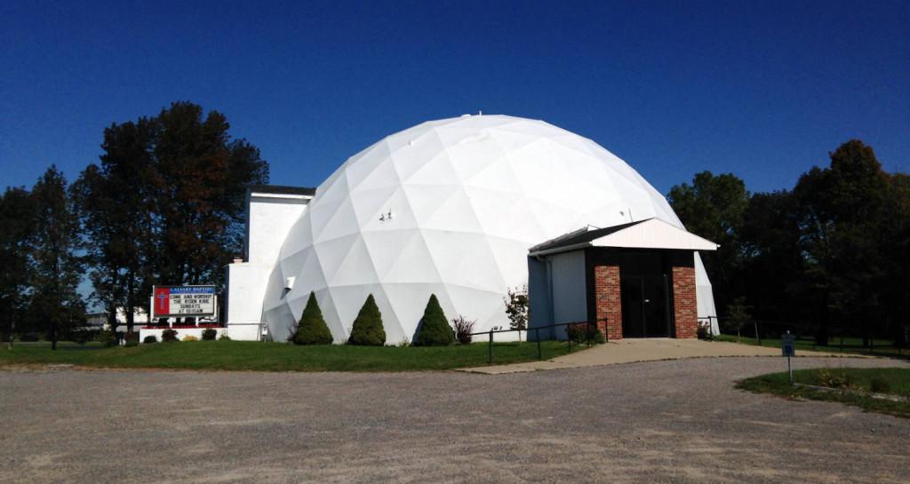 """The Calvary Baptist """"Golf Ball"""" Church in LeRoy, New York"""