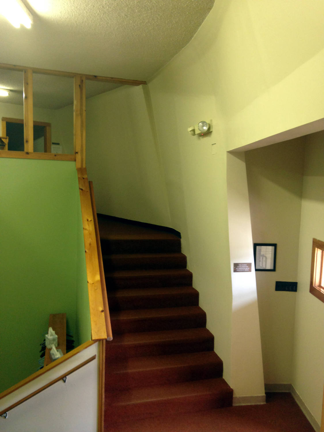 Inside Stairwell in the Calvary Baptist Church in LeRoy, NY
