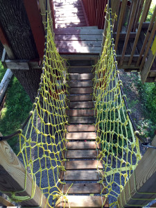 Rope Bridge in Tree Creations in Geneseo