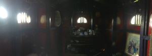 Panoramic Shot of Inside the Wizard's Den Treehouse in Geneseo
