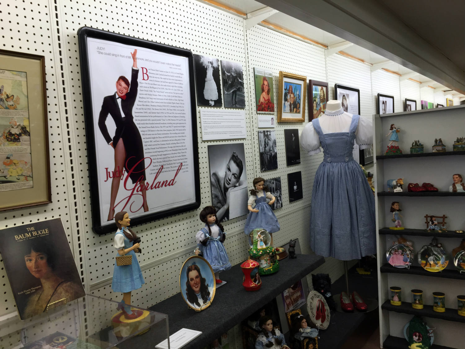 Judy Garland Display at the All Things Oz Museum in Chittenango, New York