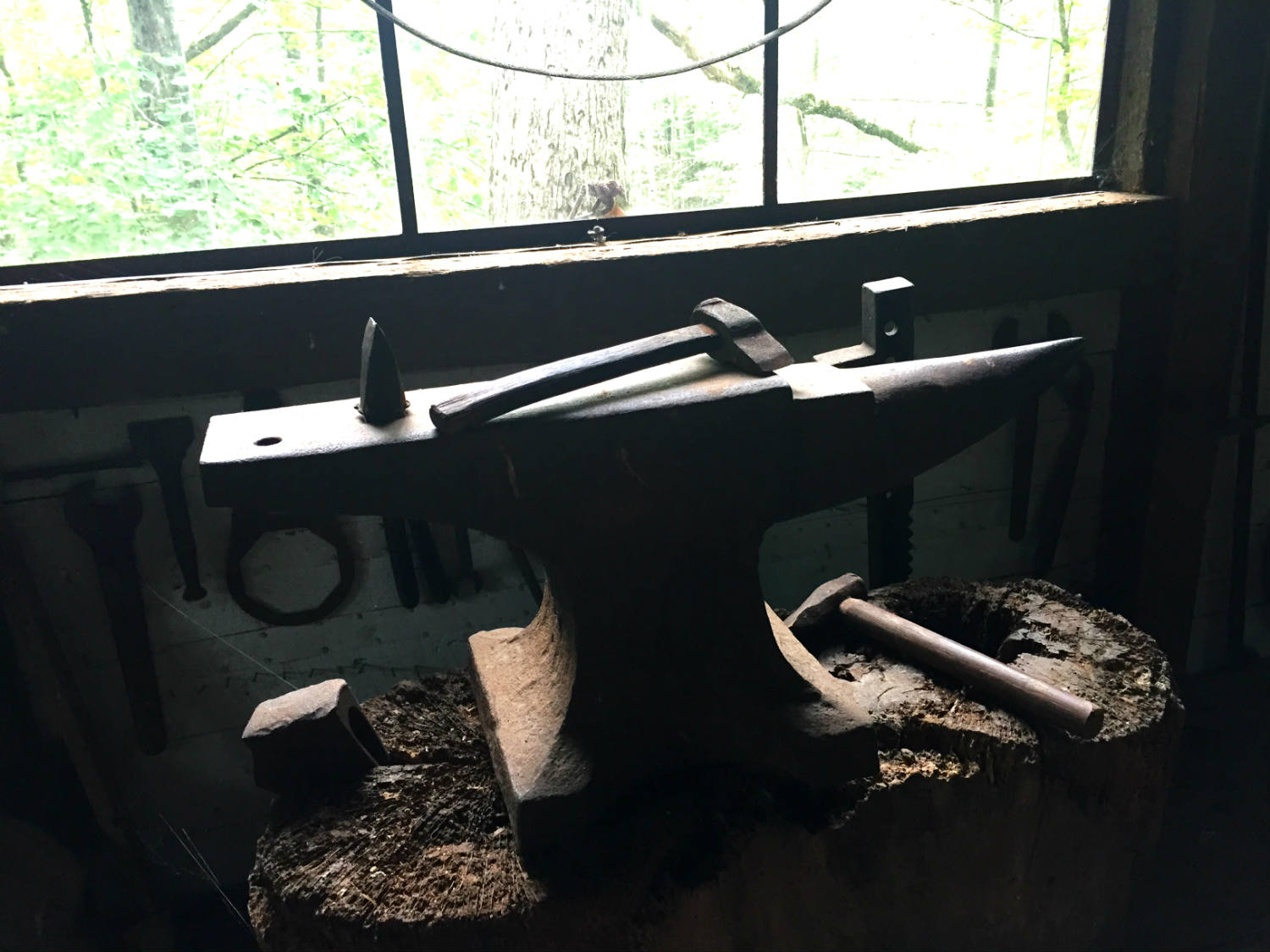 Hammer and Anvil in the Quarryman's Museum at Opus 40