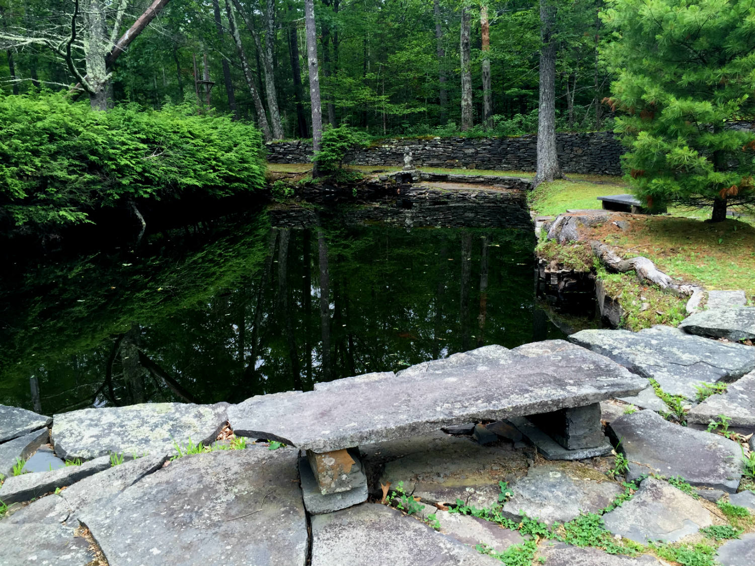 Pond at Opus 40; Saugerties, NY