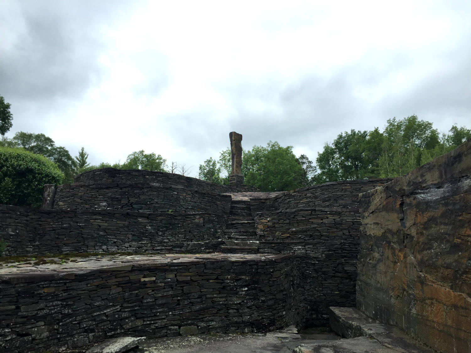 Stone Walls and Stairs at Opus 40 in Saugerties, New York