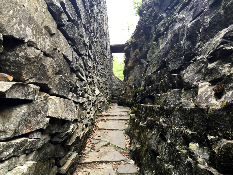 Narrow Walkway in Opus 40 in Saugerties, New York