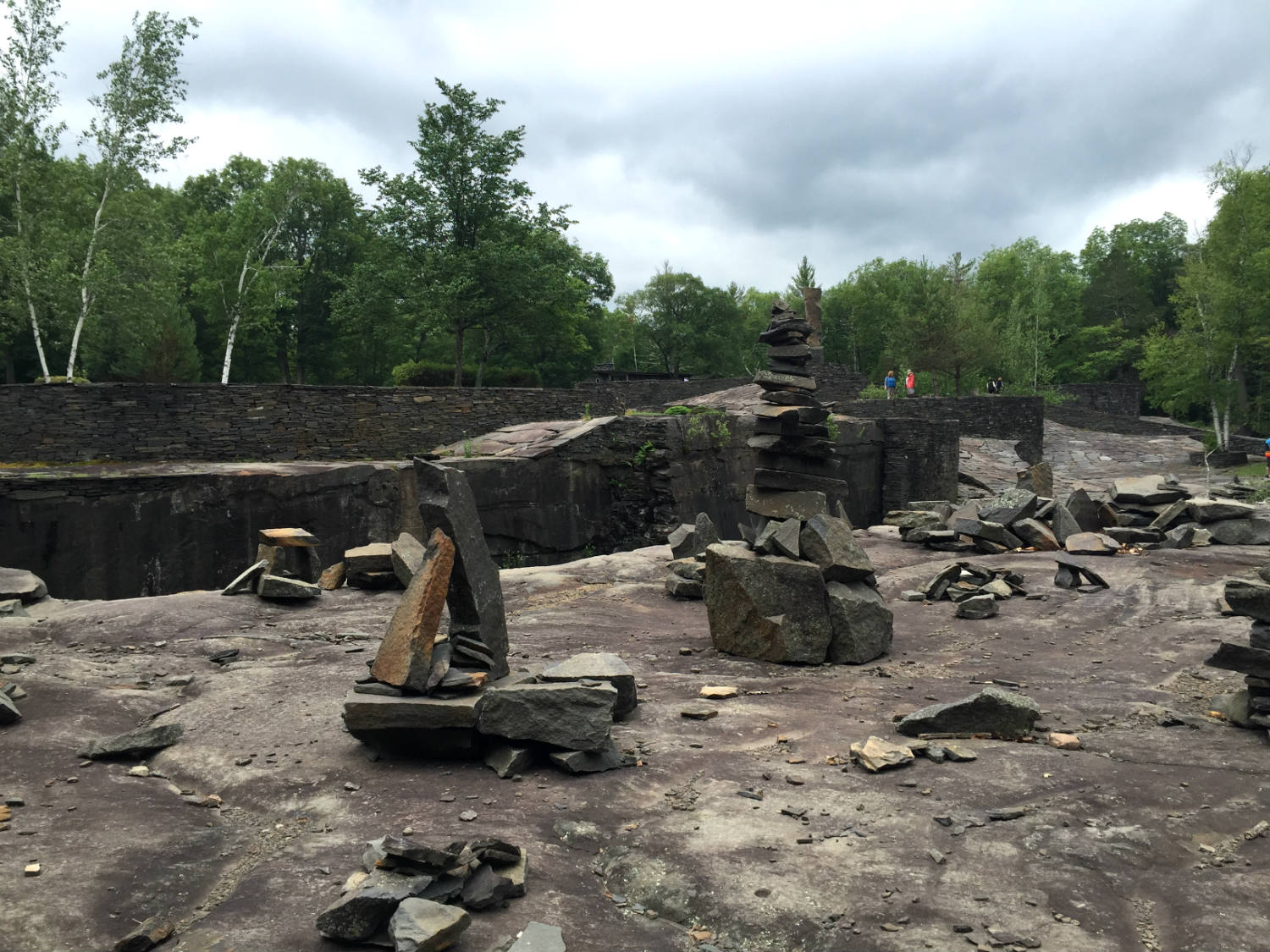 Stacked Stones in Opus 40; Saugerties, NY