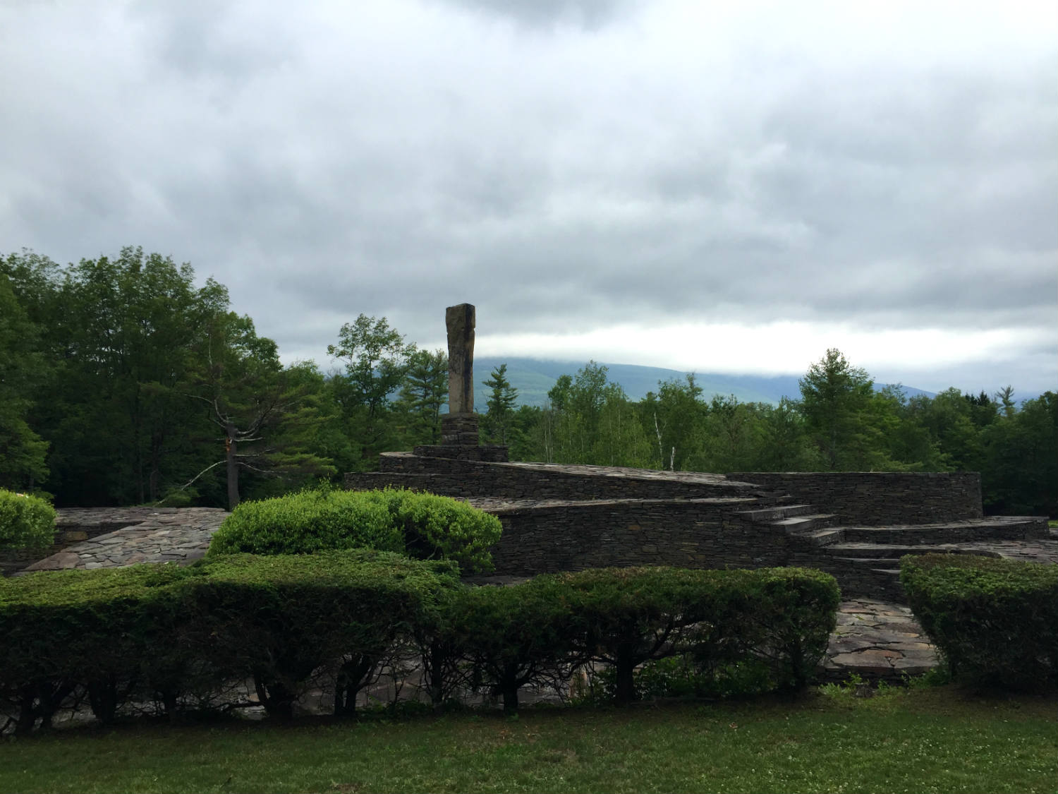 The Flame and Overlook Mountain at Opus 40 in Saugerties, New York