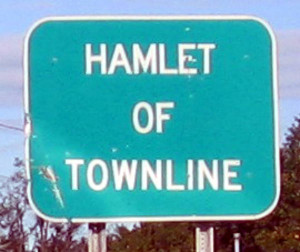Hamlet of Townline Road Sign