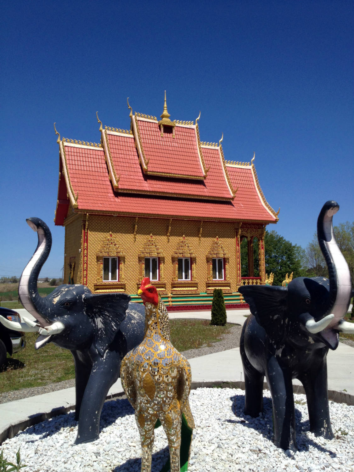 Astrological Statues at Wat Pa Lao Buddhadham in Rush, New York